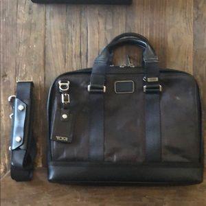 Tumi leather brief